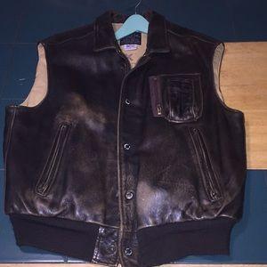 Avirex U.S.A. Leather vest